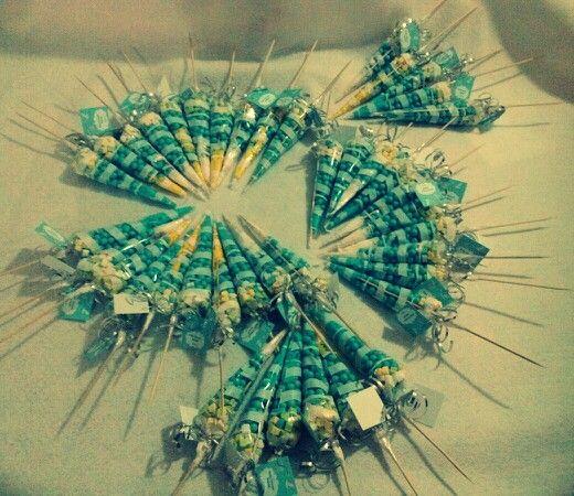Brochetas de dulces Baby Shower Pinterest Fiestas