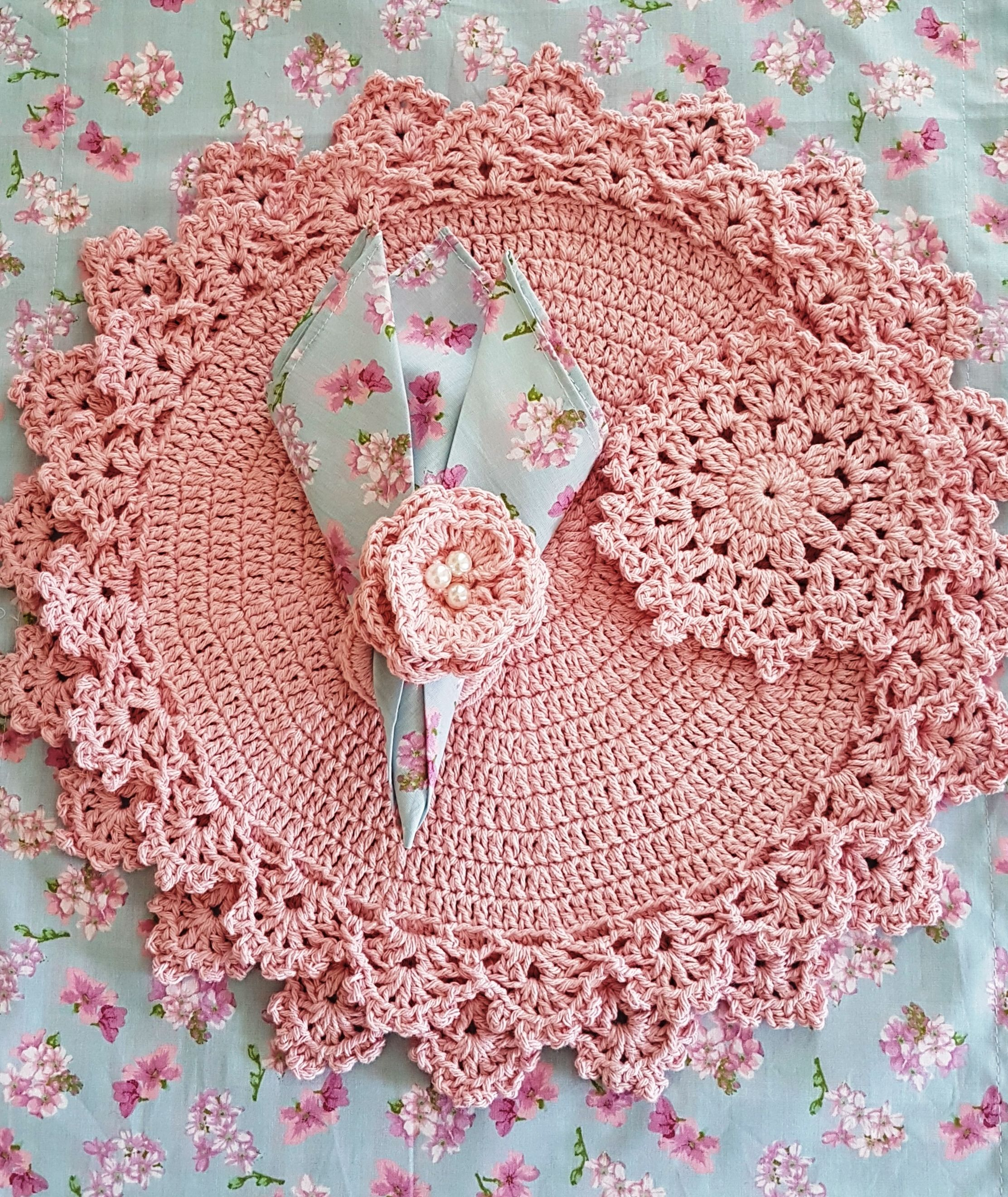 Jogo Americano Dupla Face Floral Rosa E Xadrez Rosa Guardanapo De Boca Floral Souplast De Crochet Porta Copo E Tig Desenleri Tig Motifleri Tig Isi Sablonu