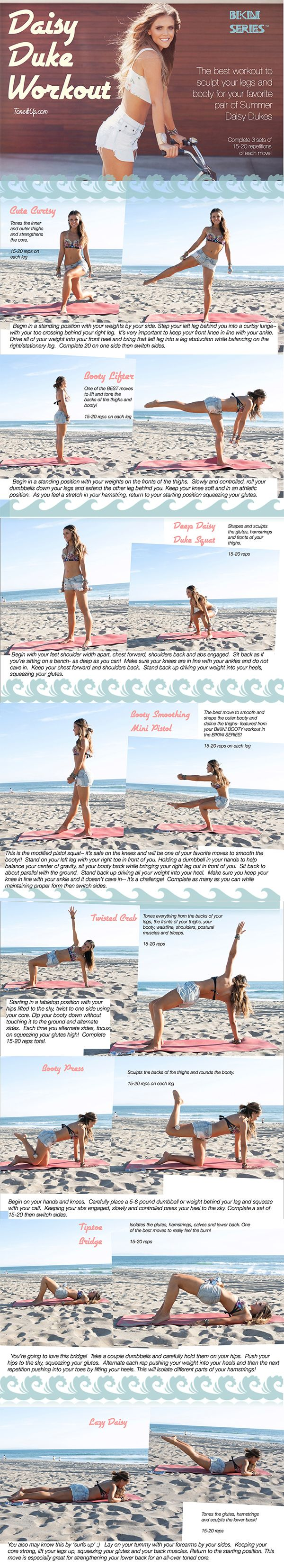 Tone it up the daisy dukes summer workout fitness workouts