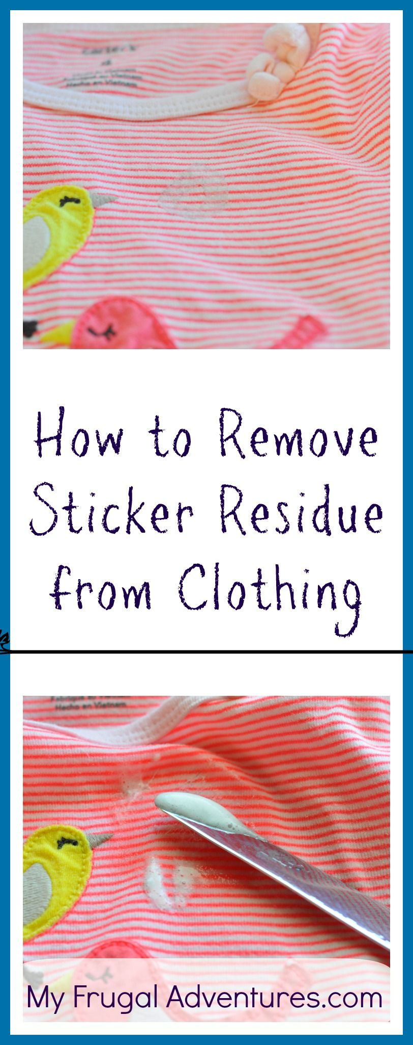 How to Remove Sticker Residue from Clothing. How to remove Sticker Residue From Your Clothes After Going