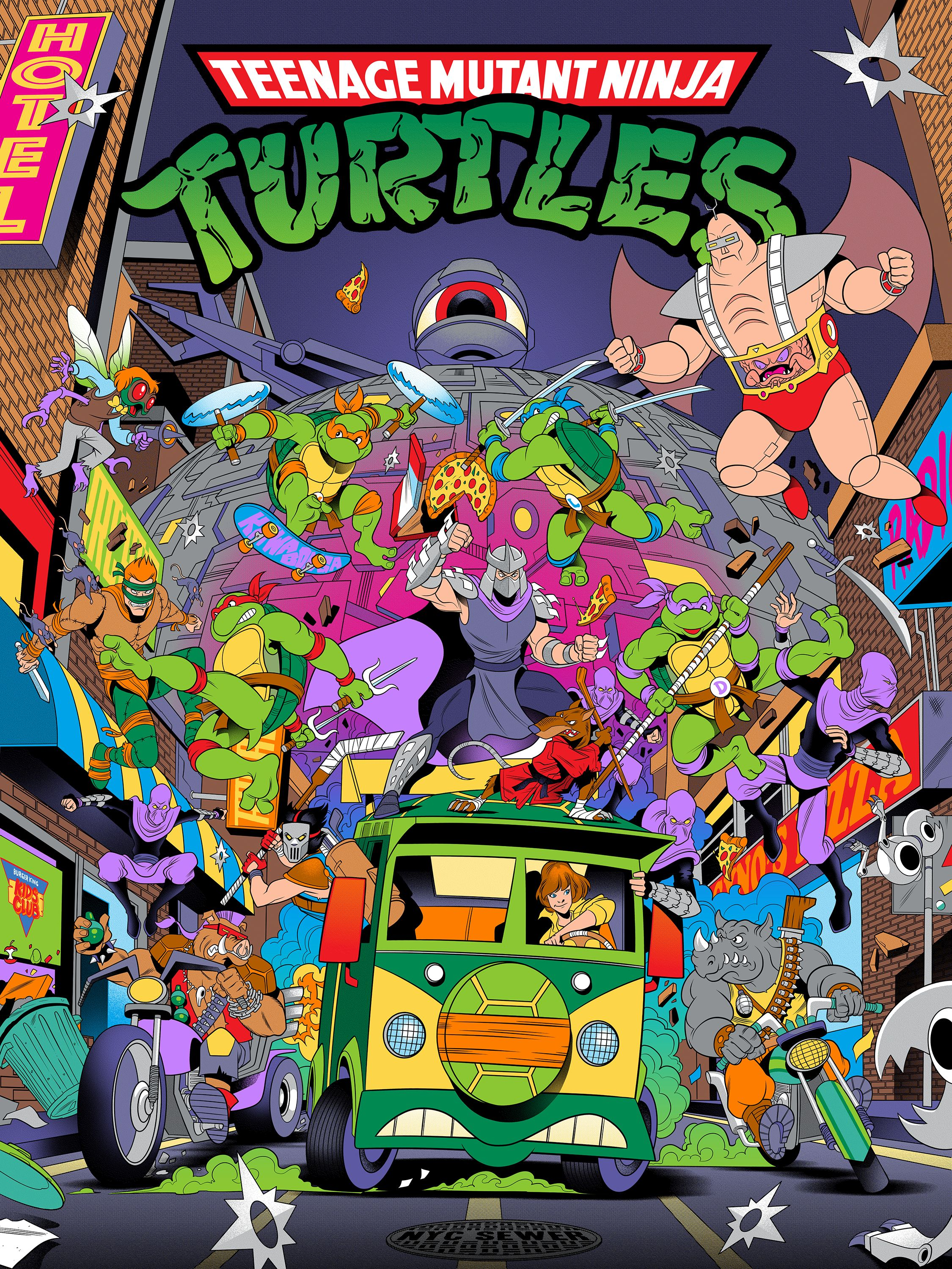 TEENAGE MUTANT NINJA TURTLES 80's TV CARTOON on Behance