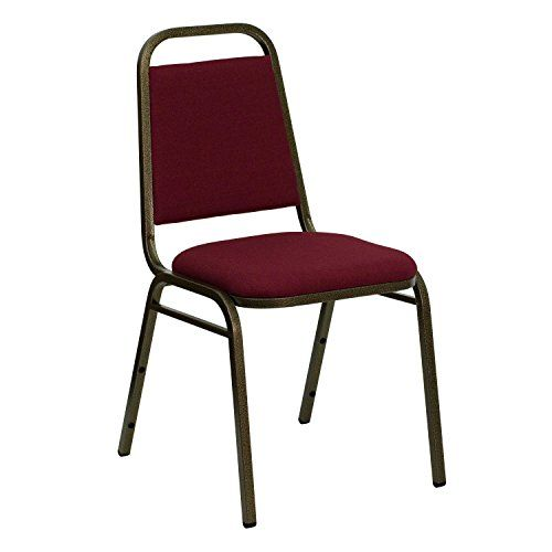 A Line Furniture Thistle Burgundy Upholstered Stack Dining Chairs