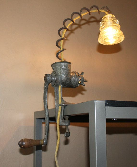 Old Meat Grinder Table Lamp | craft ideas | Pinterest ...