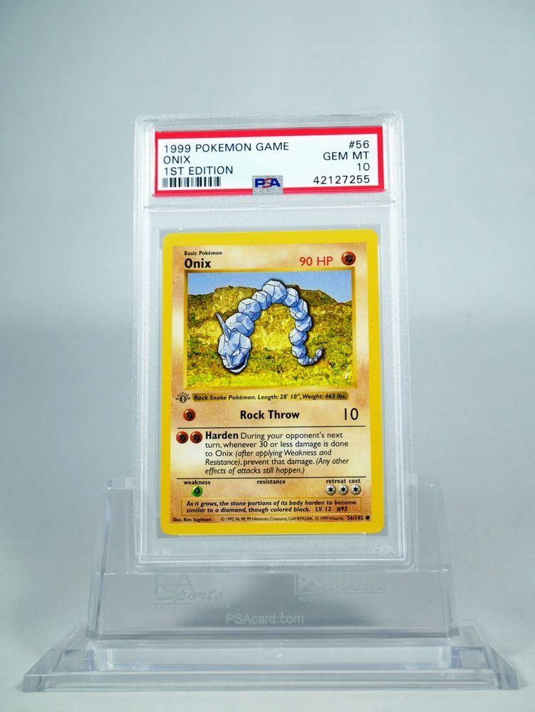 Psa 10 gem mint 1st edition base greygray stamp onix
