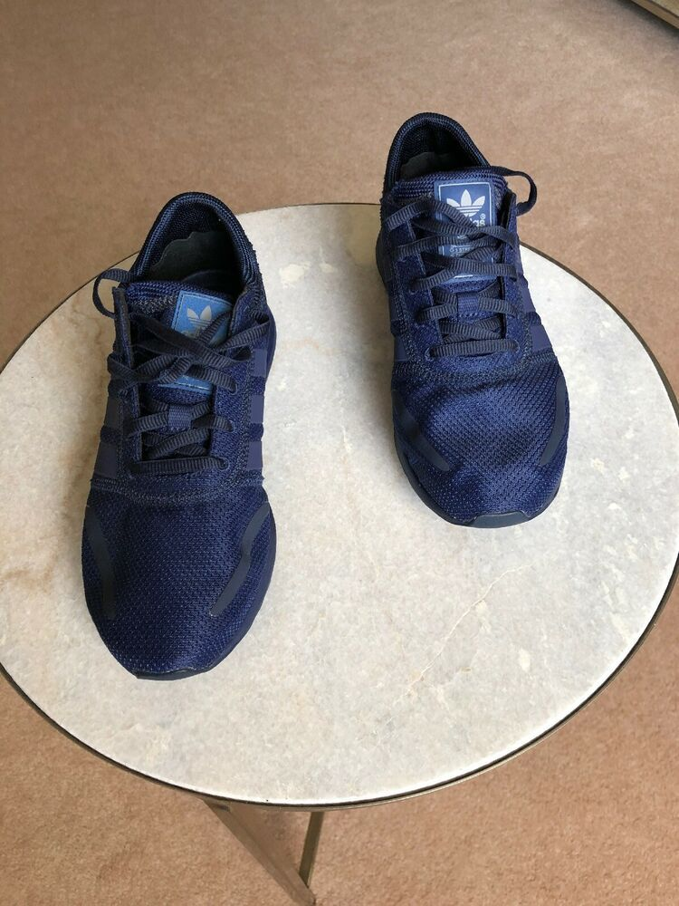 Adidas nmd human race Blue Canvas Fly Knit Navy Blue Size