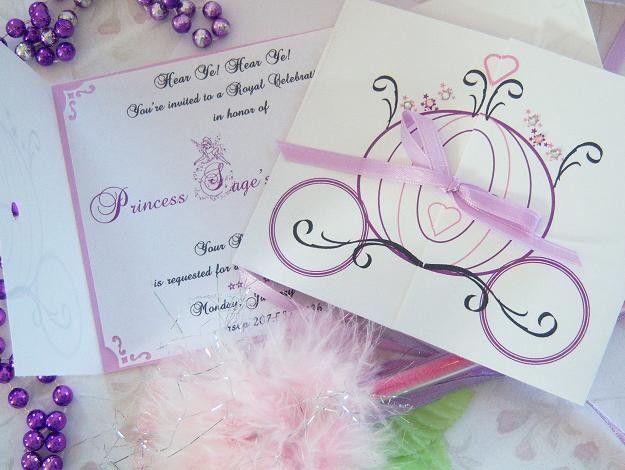 Aporte: Invitaciones de princesas disney facilies para hacer y muy ...