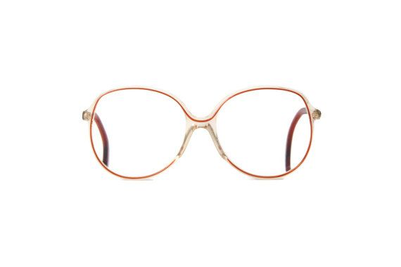 e65a476237 Silhouette  RARE woman XL oversize glasses Vintage Frame large Frames red clear  Retro Hipster Glasses Eyeglasses
