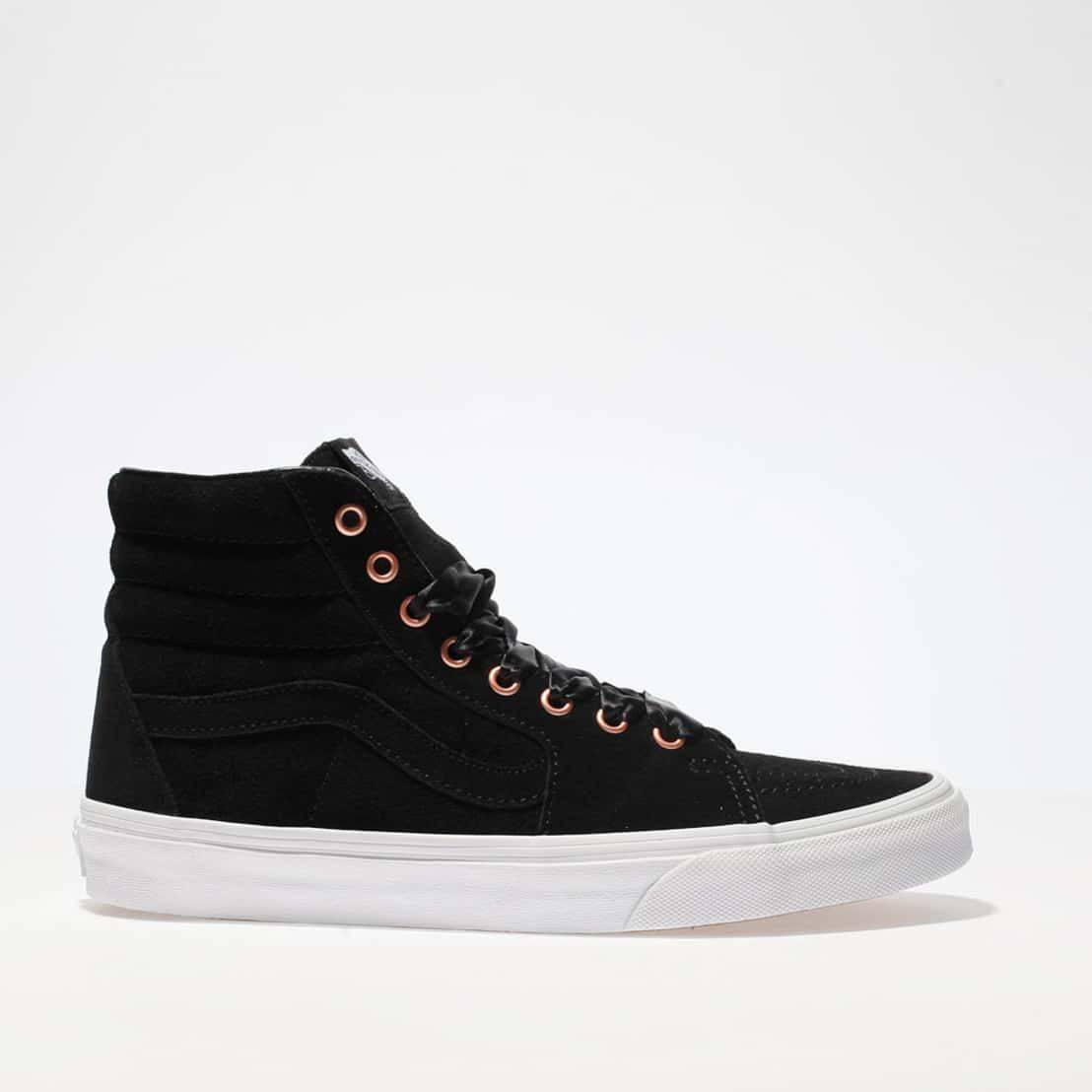 daae84351b5 Black   rose gold vans sk8-hi trainers exclusive to schuh