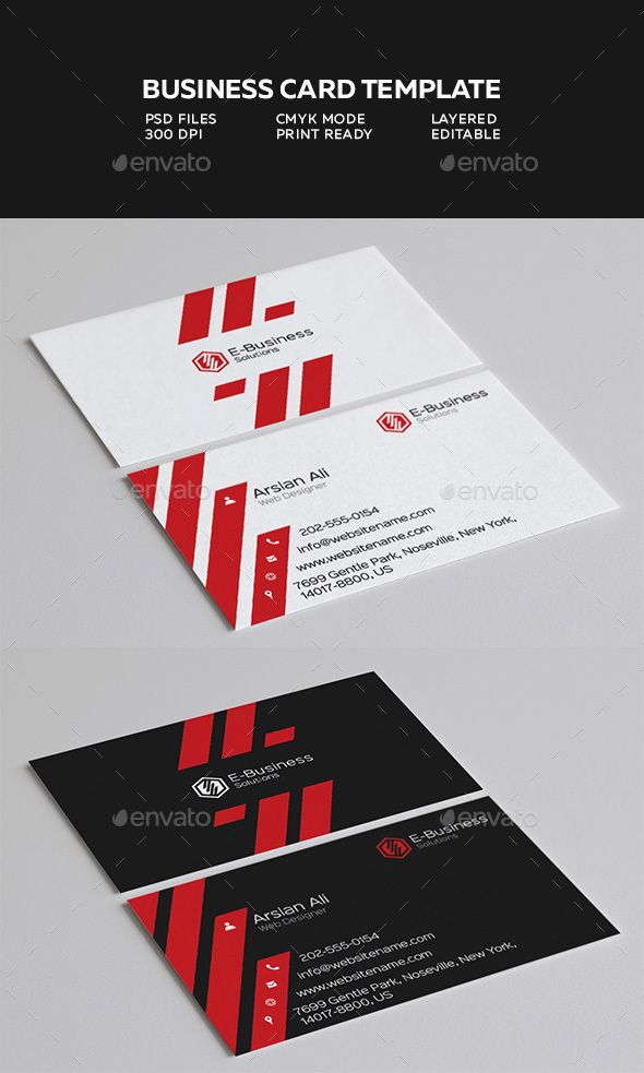 Creative Business Card 3 | Pinterest | Simple business cards ...
