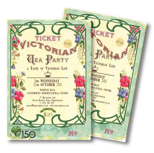 Victorian Tea Party Invitation Idea