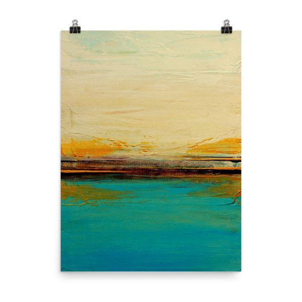 Abstract Seascape Print – Blue and White Wall Art – Coastal Poster ...
