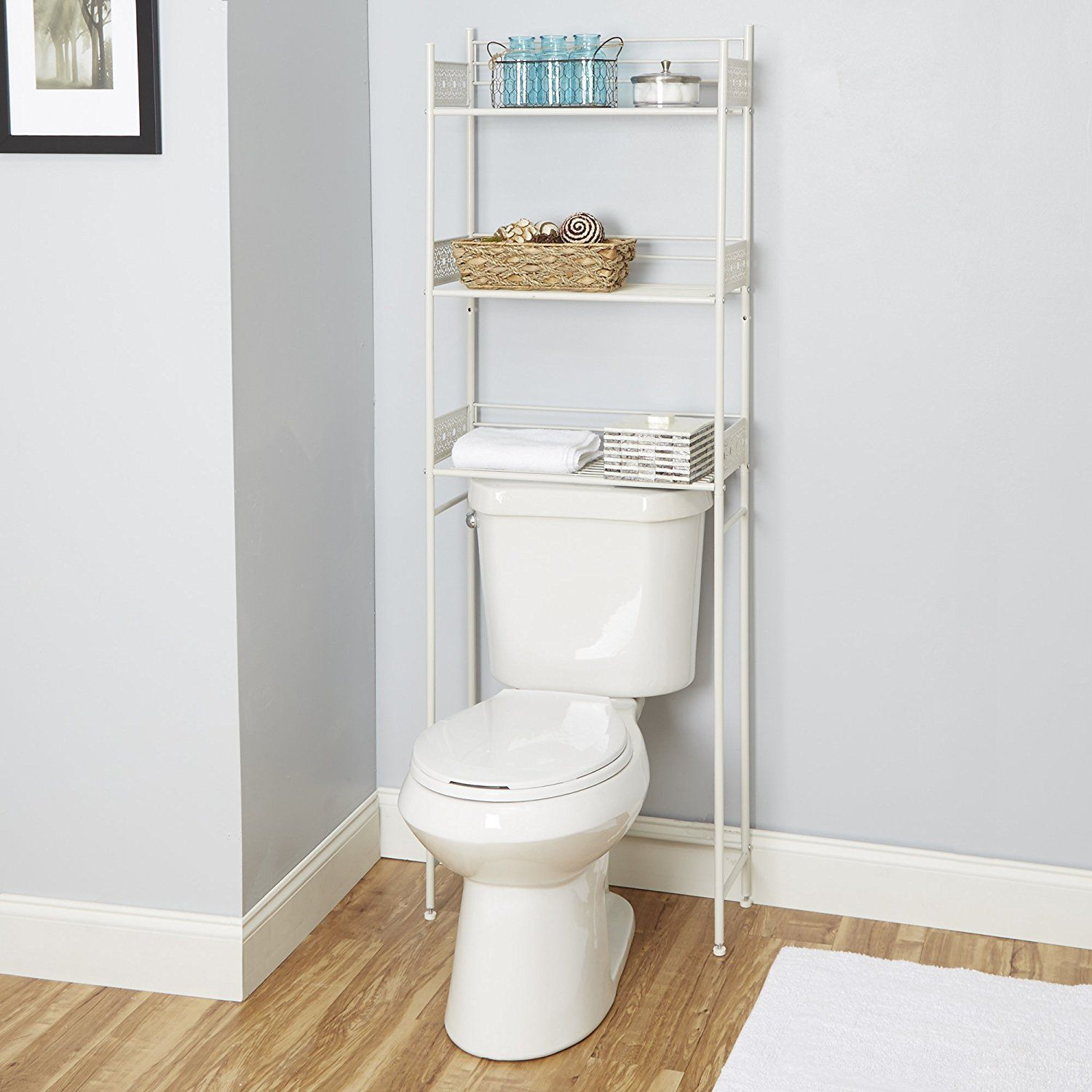 Silverwood Filigree Bathroom Collection Spacesaver White 64 H