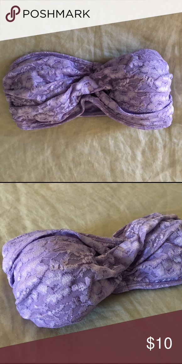 Purple Lace Bandeau Size small and in great condition! Intimates & Sleepwear Bandeaus