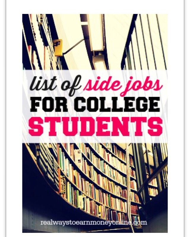 Great Side Jobs For College Students !!! #Various #Trusper #Tip