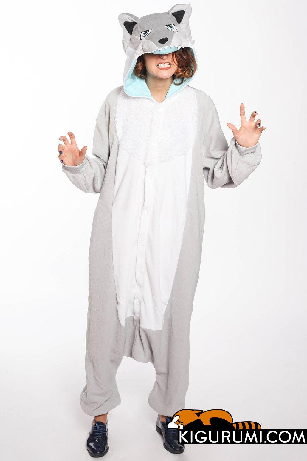 2877b39ddebc Ghost Wolf Kigurumi Onesie