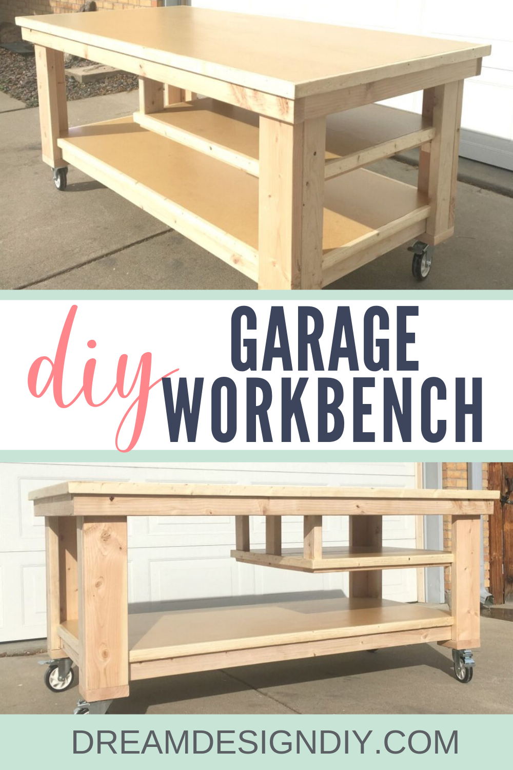 How To Build The Ultimate Diy Garage Workbench Free Plans