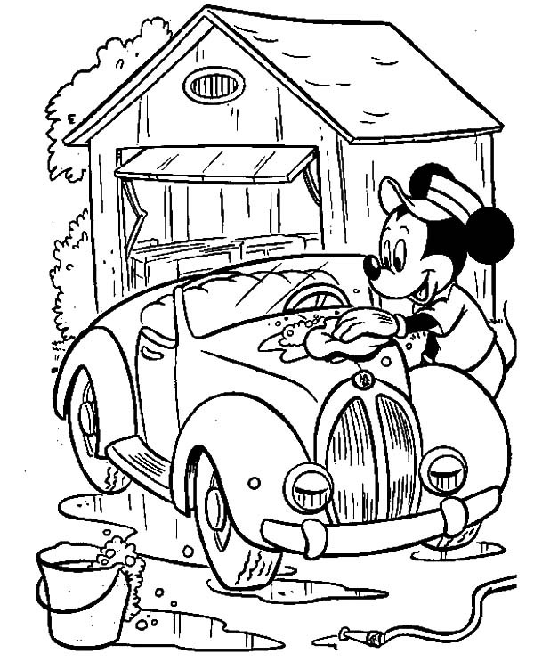 Mickey Mouse Doing Car Wash Coloring Pages Best Place To Color Mickey Mouse Coloring Pages Disney Coloring Pages Mickey Coloring Pages