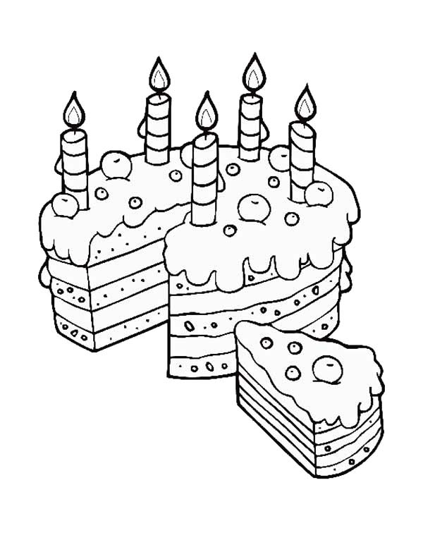 Birthday Cake Slice For Mom Coloring Pages Best Place To Color In 2020 Mom Coloring Pages Happy Birthday Coloring Pages Coloring Pages