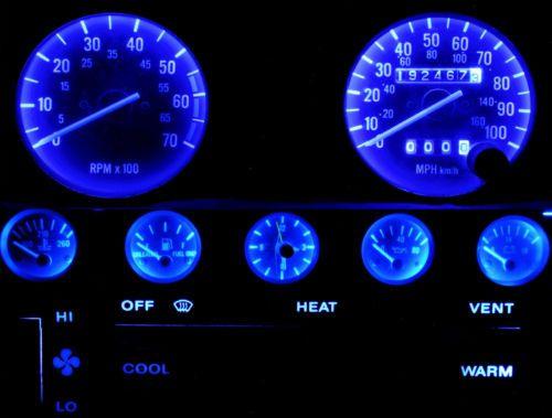 Details About Jeep Yj Wrangler Blue Led Speedometer Gauge Cluster