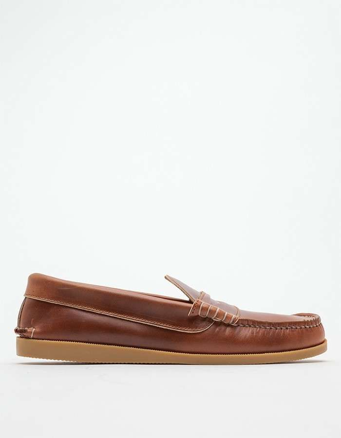 23f16a23416 Quoddy Whiskey Penny Loafer Gum Sole