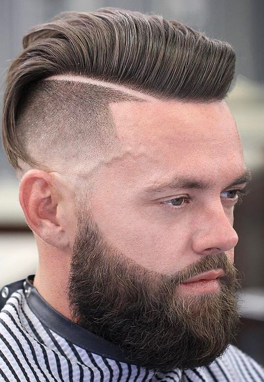 styling mens hair top 25 side parted and fade mens haircuts with beard 9822