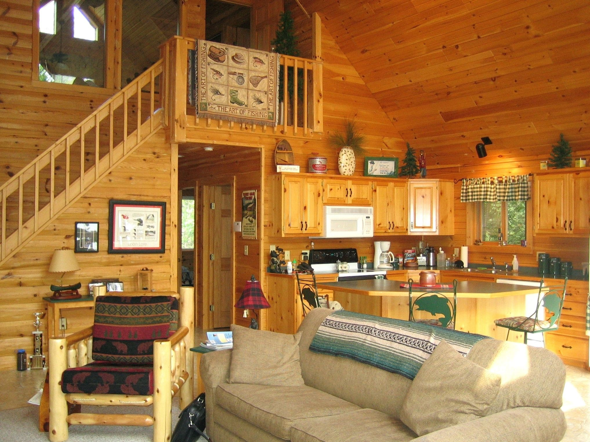 Log home interior ideas small cabin living  interior paint color trends check more at