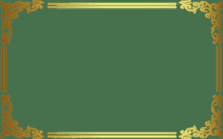 View And Download High Resolution Gold Frame Border Png For Free The Image Is Transparent And Png Format Bingkai Kartu Undangan Pernikahan
