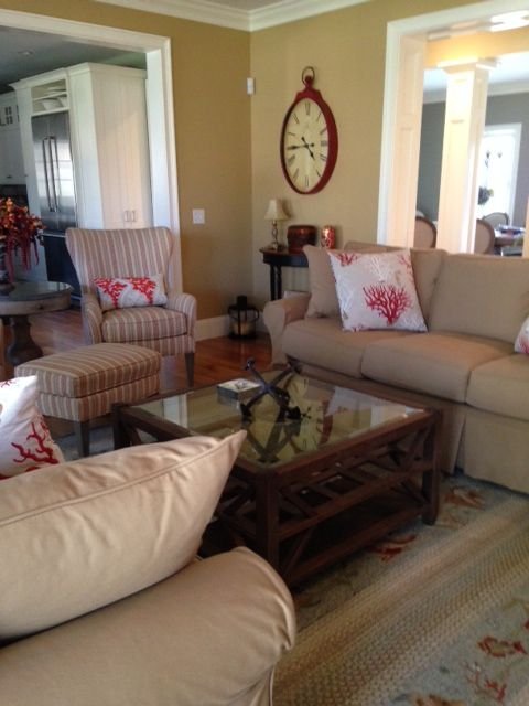 Great Room: Chairs and Couches from Barbos Furniture, Tables from ...