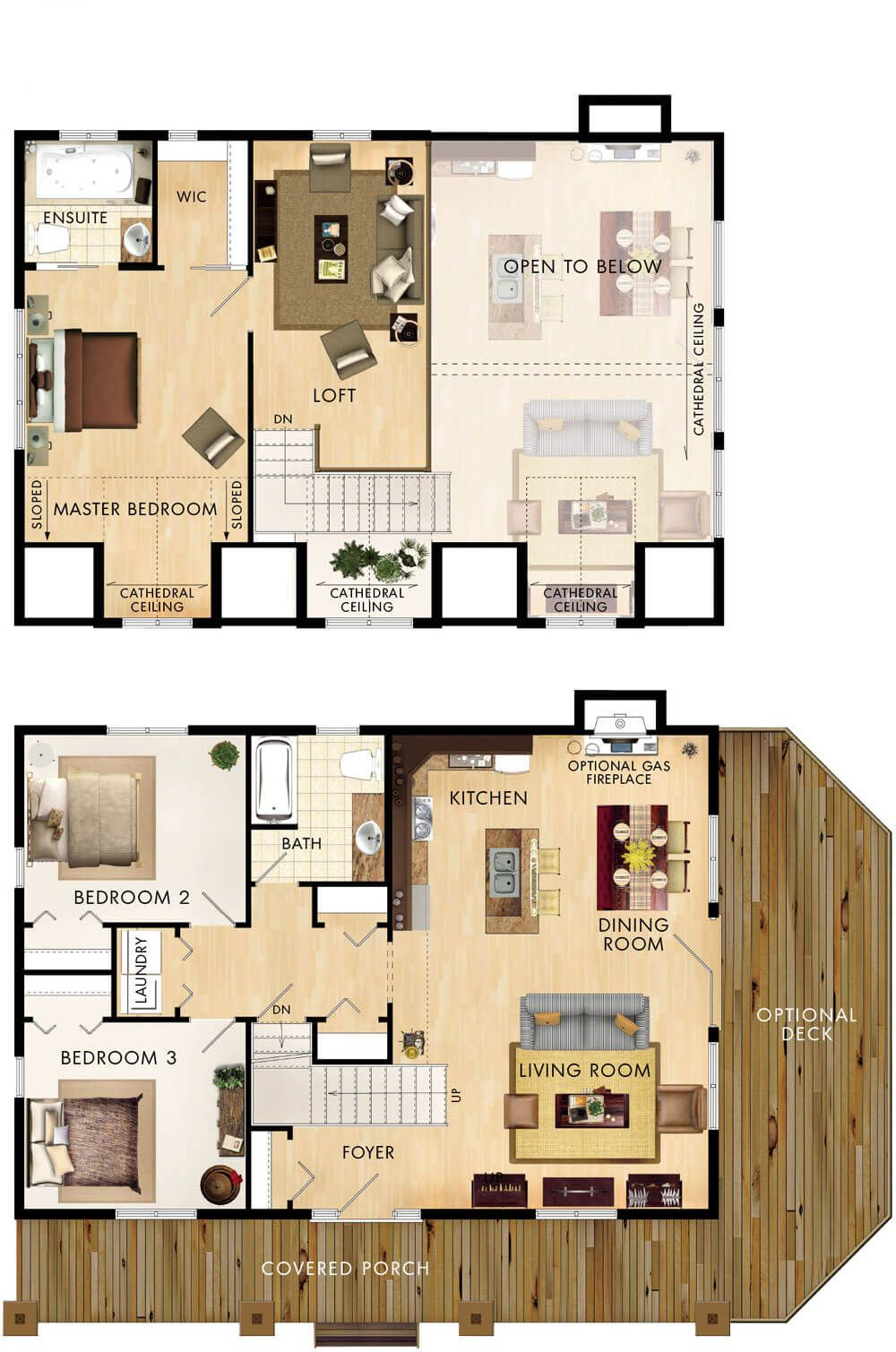 3 bedroom loft house  Gatineau Floor Plan  floor plans  Pinterest  Barn loft House and