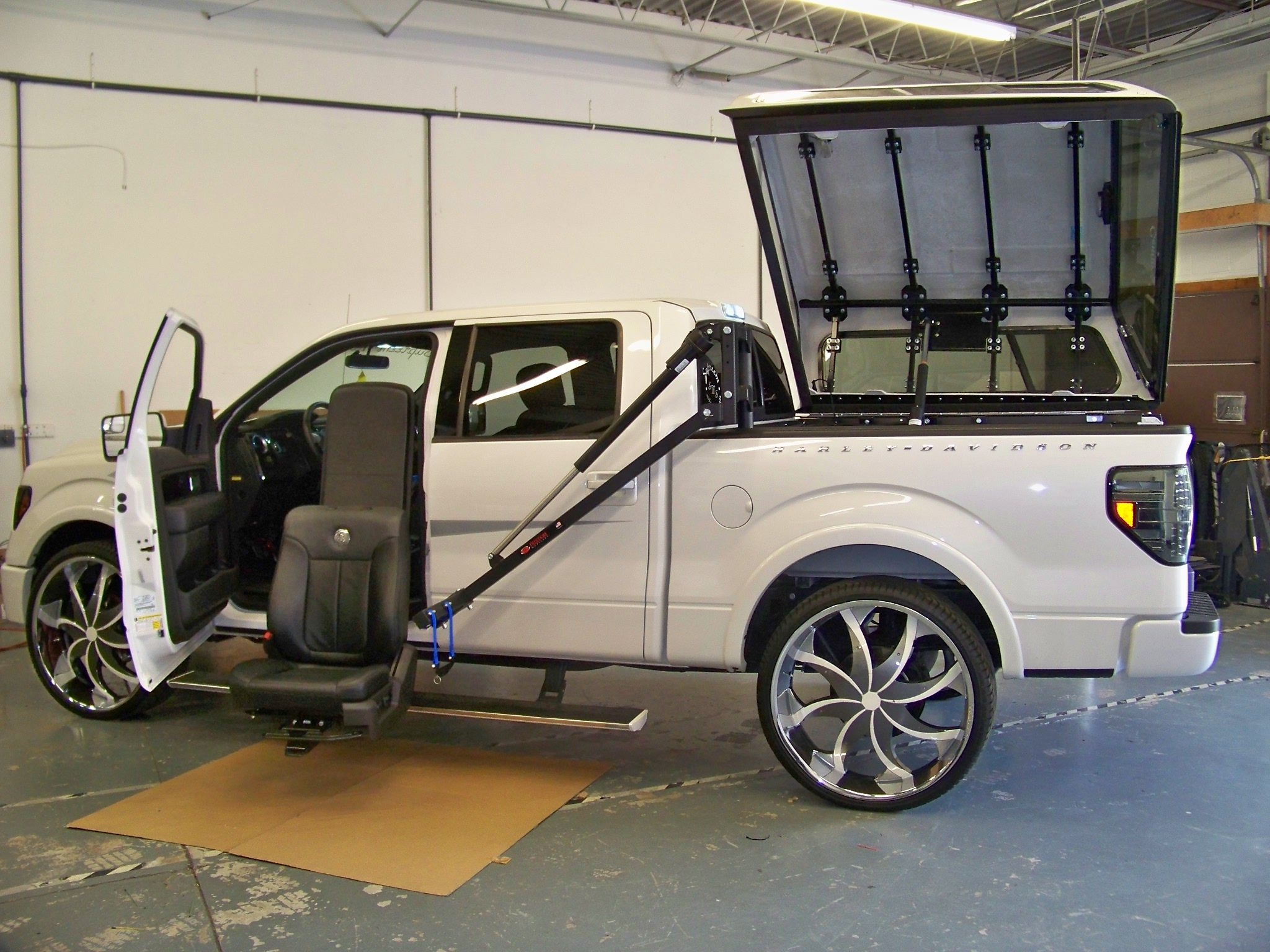Ford F-150 modified for wheelchair accessibility. #NMEDA ...