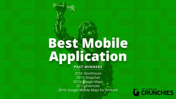 Think You Have The Best Mobile App?Make sure you submit your nomination for the best mobile app of 2015 now! With only one day left until nominations close for the Crunchies Award Show we want to hear from you. The Best Mobile app should be a recent standout that has earned its place on your home screen and something that you cant live without.The past seven winners of this award were imeem (2008) Foursquare Read More