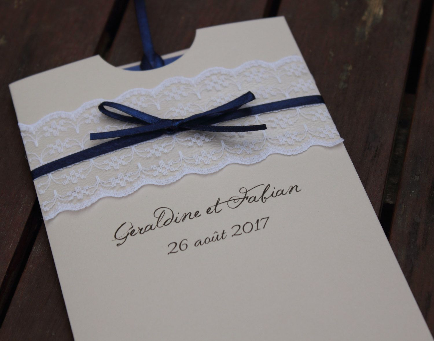 Invitations sleeve range | Brittany wedding chic | or sea