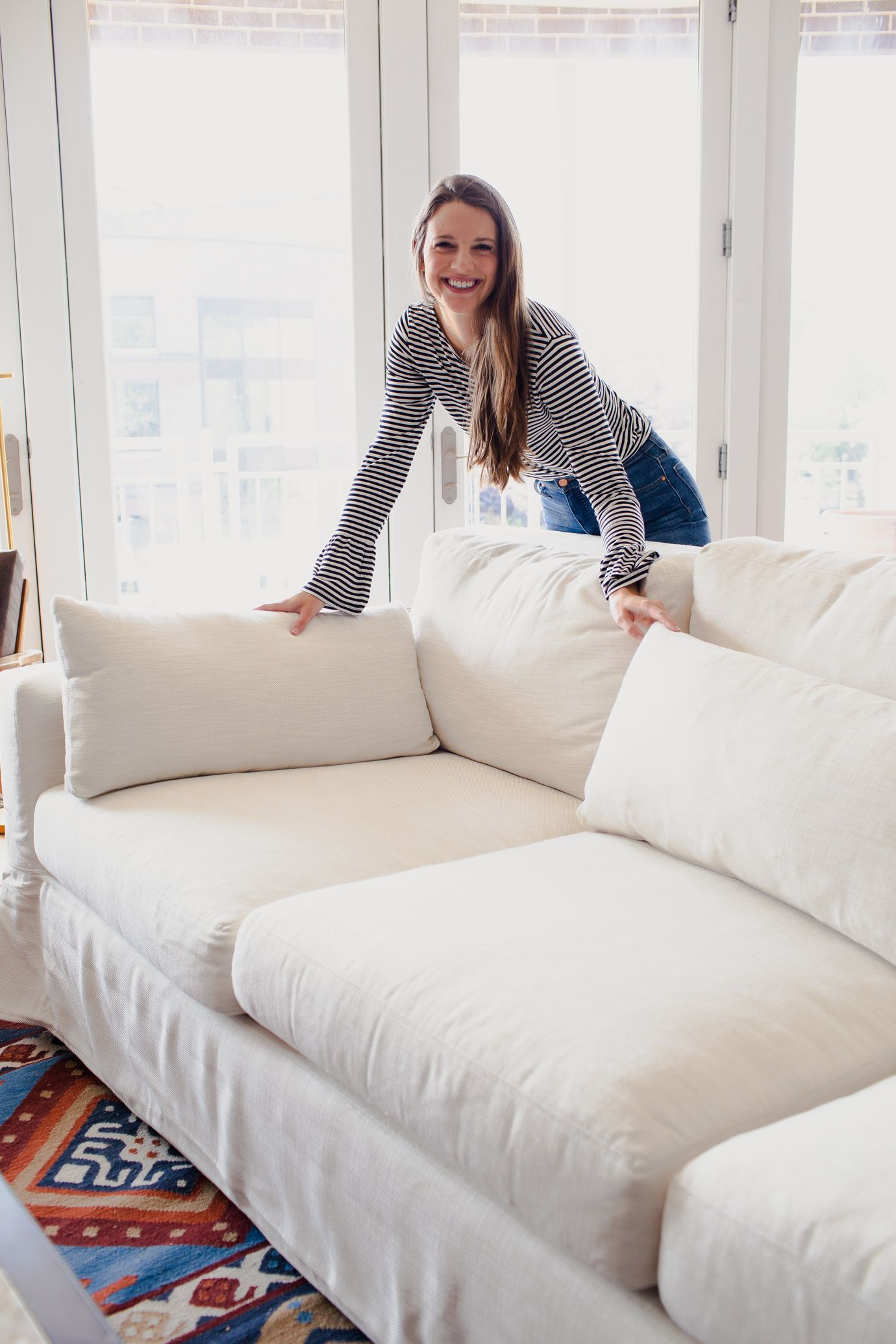 How To Choose The Perfect Sofa + Pottery Barn York Sofa