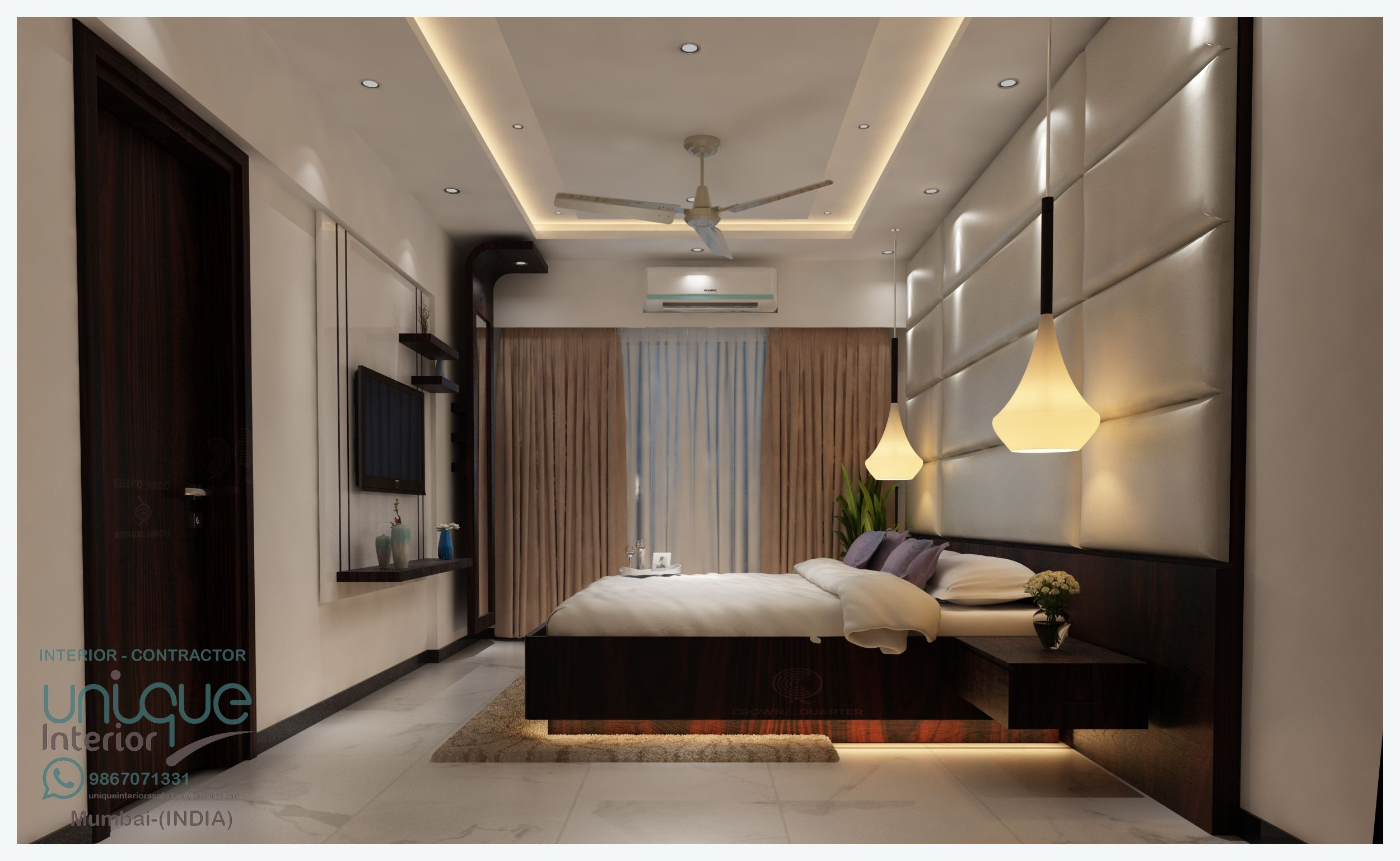 Pin By Unique Interior On Bed Office Interior Design