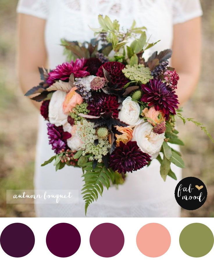 Magnificent Autumn Wedding Bouquets Fern Wedding Fall Wedding