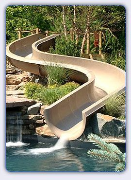 Home Water Slide Had Much Cooler Photos On The Site But Wouldn