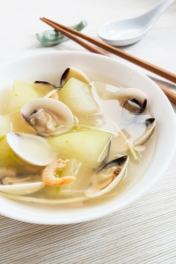 Winter Melon Clam Soup with Ginger - Souper Diaries