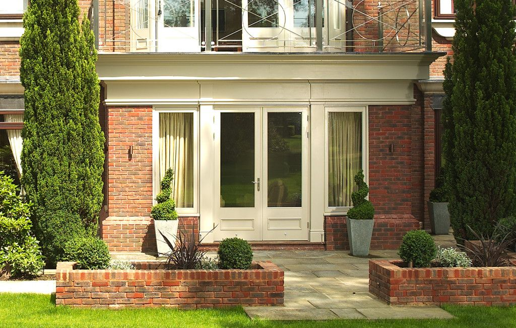 French Door to a beautiful brick extension