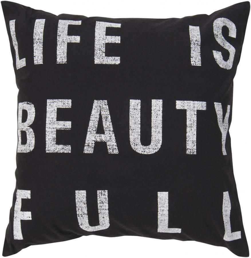 Beauty Full Pillow Pitch Black With Images Beauty Pillow Throw Pillows Beautiful Decorative Pillows