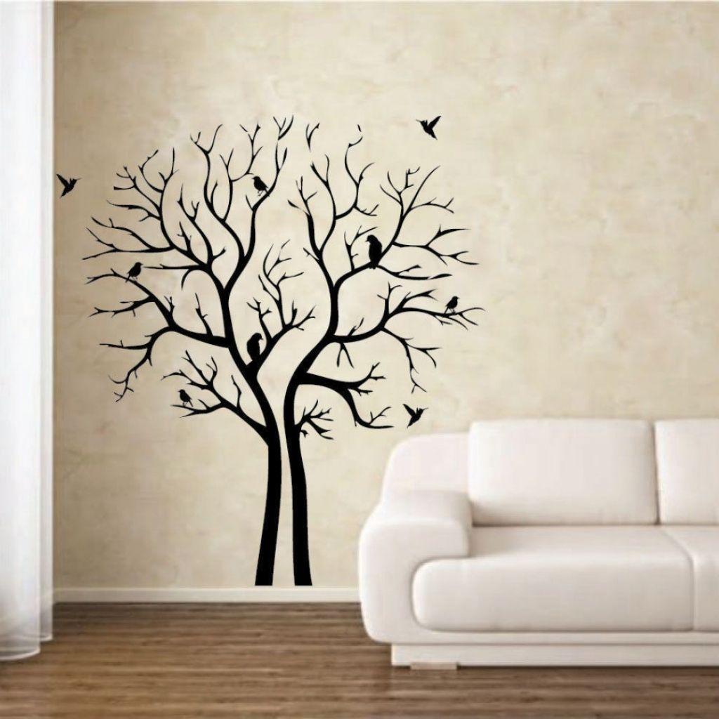 Family Room Wall Art Stencil Wall Art Tree Wall Painting Stencil Painting On Walls