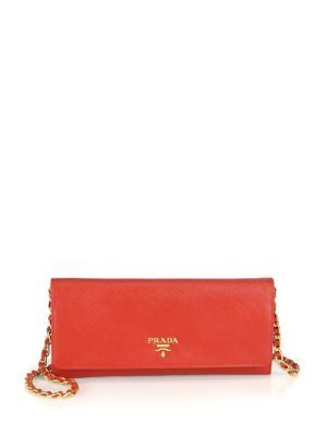 59650bce61b0 PRADA Saffiano Metal Oro Chain Wallet.  prada  wallet