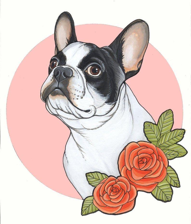 Original Zeichnung Von Eine Franzosische Bulldogge A4 Format Gerahmt In 2020 Hund Zeichnungen Franzosische Bulldoggen Kunst Hunde Gemalde