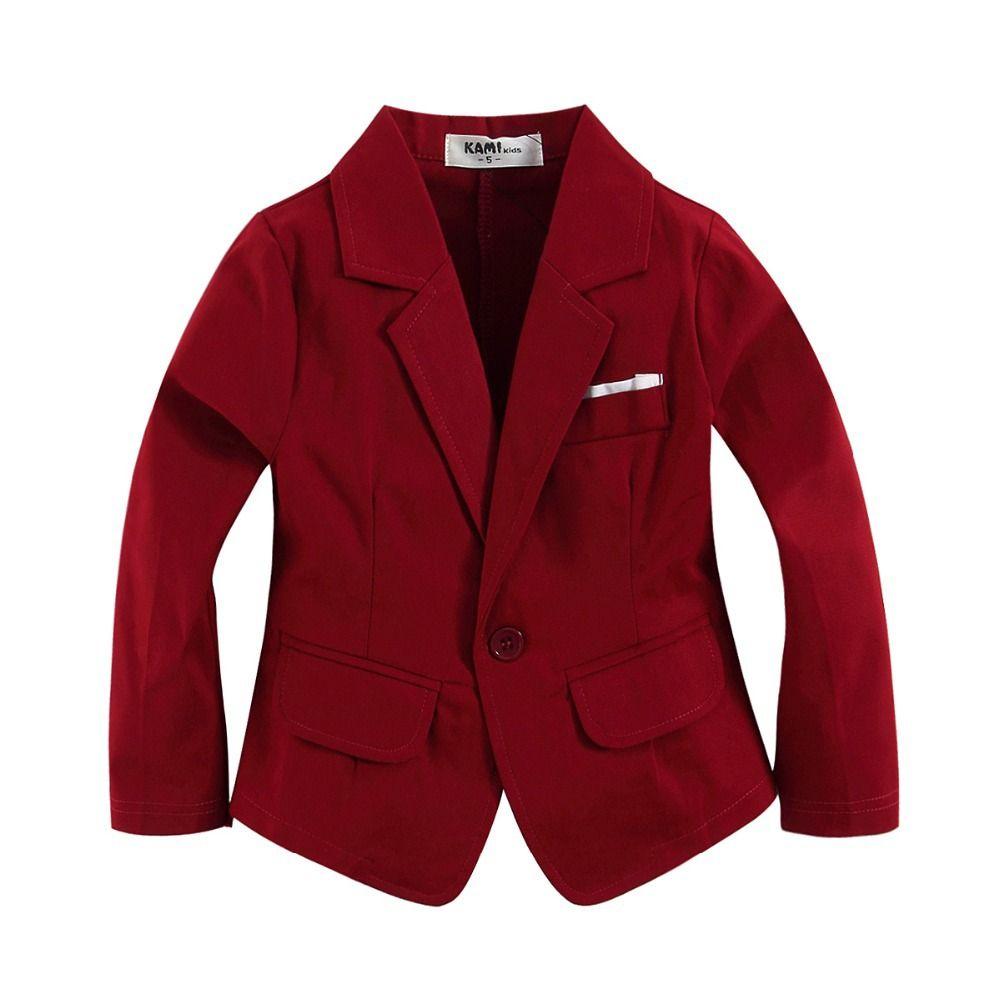 Nueva Llegada Roja Chaqueta De Tejido De Algodon 100 Para Nino Nino Rojo Vino Girls Blazer Jacket Toddler Designer Clothes Toddler Boy Suit