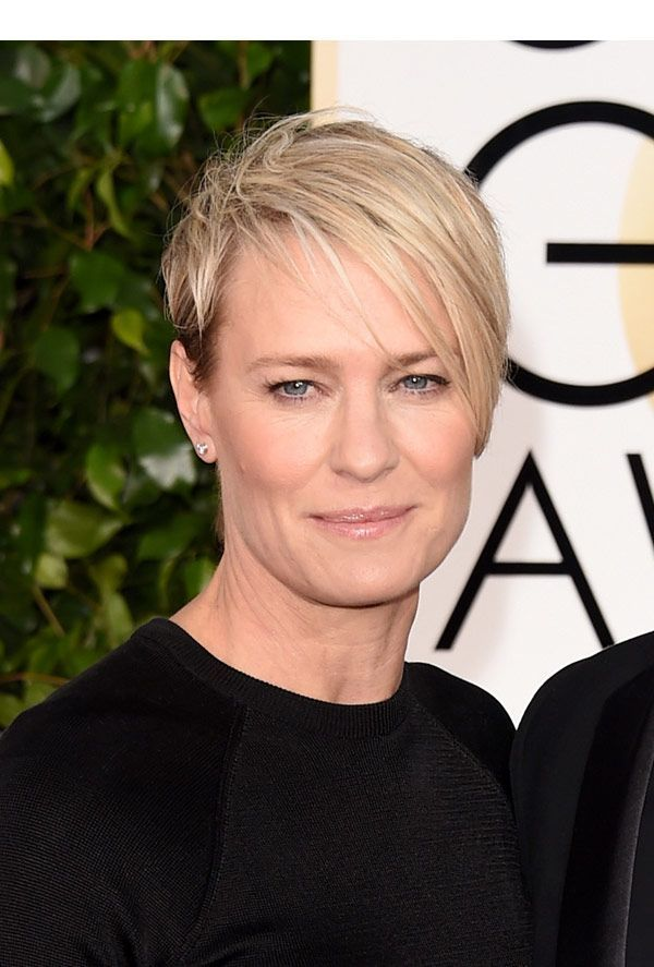 Robin Wright's Edgy Bob: How To Style This Sexy Cut #edgybob Robin Wright's Golden Globes beauty look was insanely chic! The 'House of Cards' diva just gets it right — all the time! Click to find out how Robin achieved her award-winni… #edgybob
