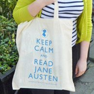 """My new library bag!  """"Keep Calm and Read Jane Austen"""""""