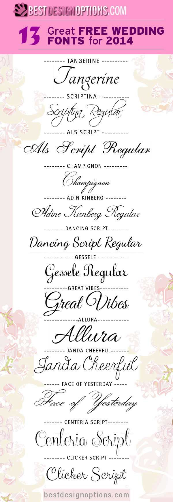 34 Free Calligraphy Script Fonts for Wedding Invitations – Free Calligraphy Fonts for Wedding Invitations