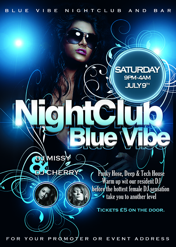Blue Vibe Flyer Template Free Download Blue Vibe Flyer Template