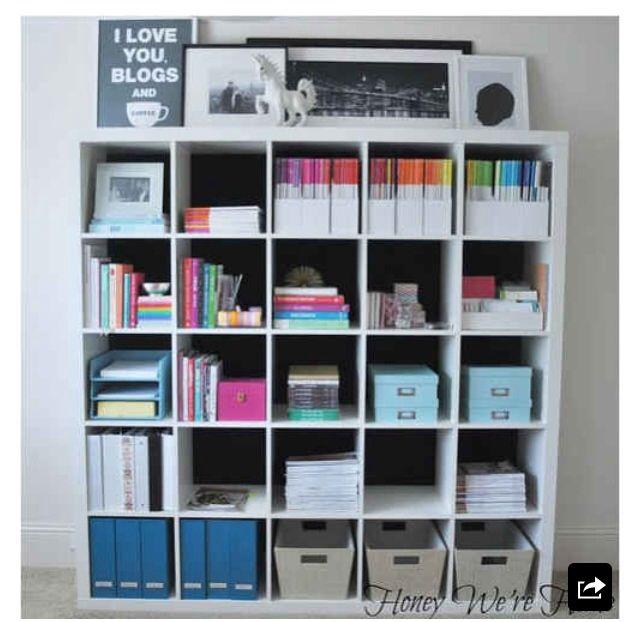 Organized Bookshelf Hausburo Organisation Organisiertes Buro Arbeitszimmerideen
