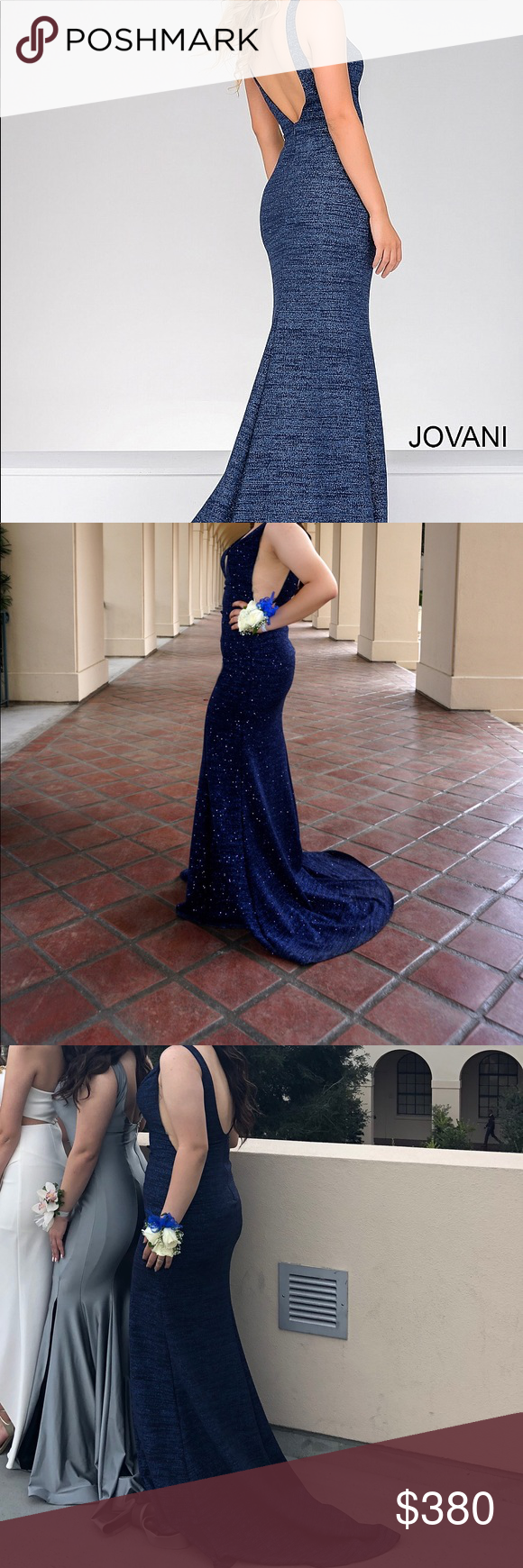Jovani prom dress size royal blue style in my posh