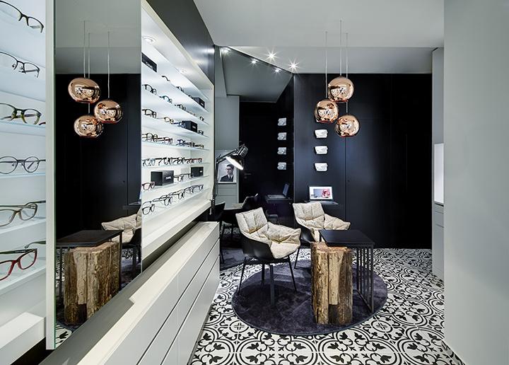 Modern Optical Frame Lenses Optical Showroom Interior Design Eyewear Store Interi Store Design Interior Showroom Interior Design Retail Store Interior Design